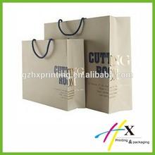 Unique paper bag different size for packaging gold foil paper gift bag