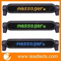 7x50dots remote 12v led car message sign led moving scrolling message display screen board