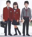 2015 moderna chaqueta uniforme de la escuela media