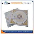 golden couleur décoratif en fibre de verre renforcé de gypse carreaux de plafond en plâtre