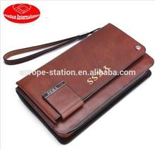 long size leather clutch wallets /handbags for men