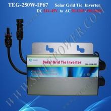 Best price 24vdc to 230vac micro inverter 250w solar panel grid tie inverter