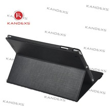 Best selling Black fine grain PU leather case for IPAD