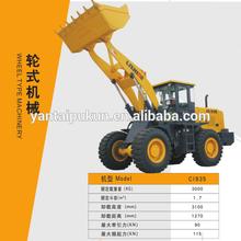 Cina marca ruota escavatore/terne idraulico 3 ton
