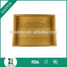 Wholesale custom cheap wood tray/pine wood tray/wood seving tray