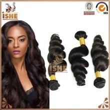 Free Shipping 3 Bundles 6A Wholesale Brazilian Hair Weave Loose Wave 100% Virgin Brazilian Hair