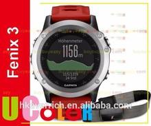 Genuine New Garmin Fenix 3 GPS Watch with HRM-RUN Silver / Red