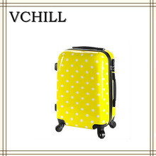 Cute Hard Dots Rolling Luggage 3D