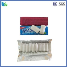 Chiclet packing mastic chewing gum