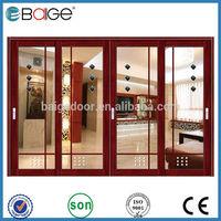 BG-AW9136 baige garage sliding screen door/industrial sliding door