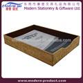 mesa de escritório em couro papela4 documento bandeja de arquivo