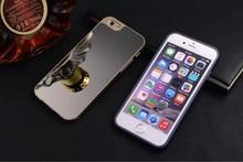 2 in 1 Aluninum Material Mirror Phone Case For iPhone 6 Plus
