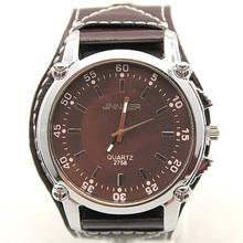 fashion vogue luxury JINNAIER brand men leather band hand big face military watch