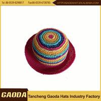 China supplier anti slip paper braid Girls Or Adults Crochet Child Kufi Hat Of Diverse Styles