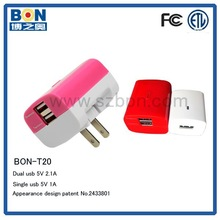 Mobile phone 2a dual use and electric type wall charger