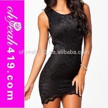 Charming women summer lace dress patterns bodycon mini dress