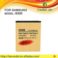 high quality mobile phone battery gold battery for S3 I9300/SGH-iT999/SGH-N035/SGH-T999