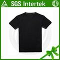 Atacado 100% preto poliéster dry fit função esporte homem t- shirt