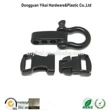 1/2 Inch side release curved metal buckle,metal paracord bracelet buckle