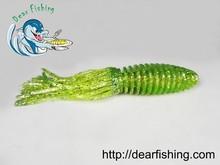 suave calamar y pulpo faldas forma de alta calidad señuelo de la pesca jigging cebos de pescado hueco en el interior del cuerpo de la natación vib de pescado