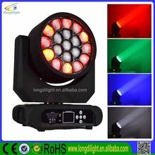 19*10w indoor stage lighting, Osram RGBW Zoom moving head wash light aura