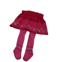 TS-04 Pink Lovely Baby Girl Pantskirt Cotton Knitted Pink Cute Baby Girls Tights