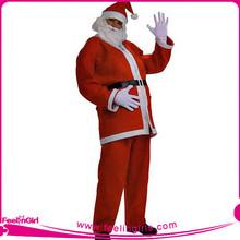 Wholesale 2012 Cheap Full Set Men Deluxe Velvet Santa Suit