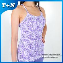 wholesale plain white custom stringer gym crop top