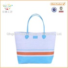 Tote Bag Cotton&Paper Straw Bag