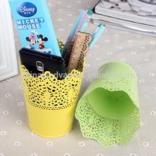 Desktop decoration metal flower pot and pen container