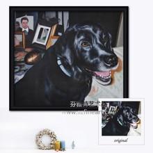Handmade christmas dogs portrait paintings on sale