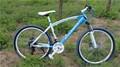 Esportes mtb! Preto e vermelho deslocamento 21 mtb velocidade disco duplo- freio da bicicleta de montanha