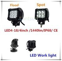 4'' inch 18W Mini LED Light Bar 4x4 Hot SXS 6X3W CR EE LED Lightbar IP68 Auto LED Light Bar