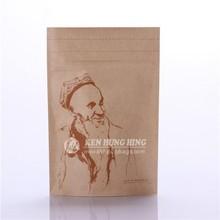 Respetuoso del medio ambiente de pie Kraft de papel seca yuca chips packaging