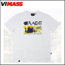 Fashion printing white t-shirts, wholesale custom high quality bulk blank t-shirts with your own logo