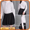 de alta calidad de los niños de la escuela de corea niña vestidos de falda y blusa