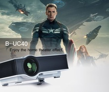 2015 Newest 800*480 1080p support UC40 portable multimedia projector headlight