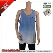 BSCI approved 20 years experience supplier product wholesale rib mans tank tops