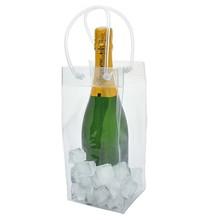 wine Industrial Use and Self Adhesive Handle high quality Protective wine PVC ice bag(SD-PB-109)