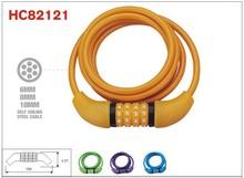 Custom color Combination spiral lock ,digital code lock ,folding lock cable