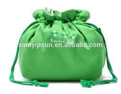 Fashion Promotional Canvas Jewelry Drawstring Bag