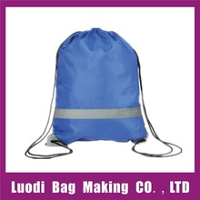 Factory direct sale reflective stripe drawstring bag