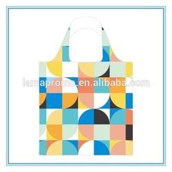 Good Stitching Sublimation Custom Handle Foldable Shopping Bag