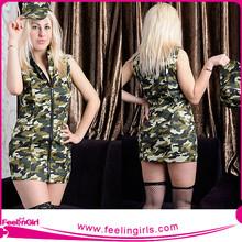 Factory Wholesale Women Hot Fashion Sexy Military Uniform