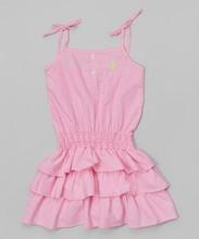 2015 latest clothing sets designs stripe ruffle dress- Infant Toddler & Girls