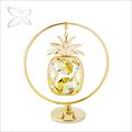 pendientes chapado en oro de metal decorativos para el hogar de piña