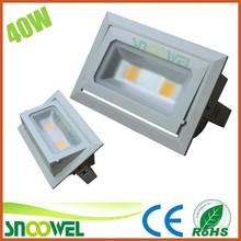 40W NEW Design Epistar COB warm white led square downlight