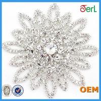 women lady polyester shabby chiffon crystal beaded lace trim