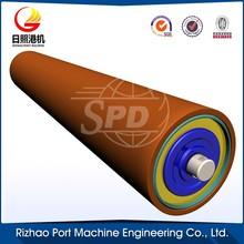conveyor impact idler rubber roller