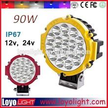 90w led work light off road led light round 8'' inch led work light bar 12v 24v ip67